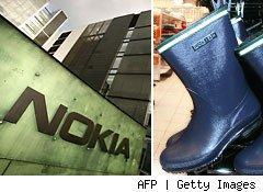Nokia and rubber boots