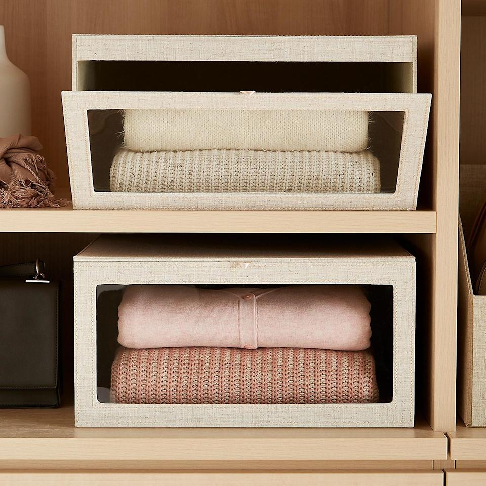A window into a tidy, more joyful life for you and your sweaters. (Photo: The Container Store)