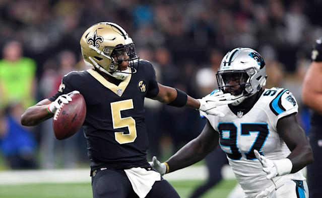 Teddy Bridgewater reportedly will stay with the Saints. (AP)