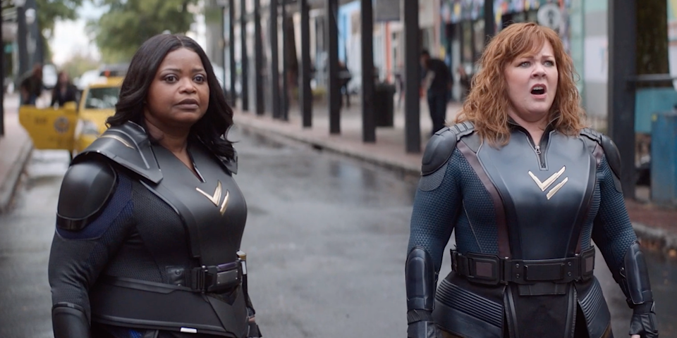 Octavia Spencer and Melissa McCarthy in 'Thunder Force' (Netflix)