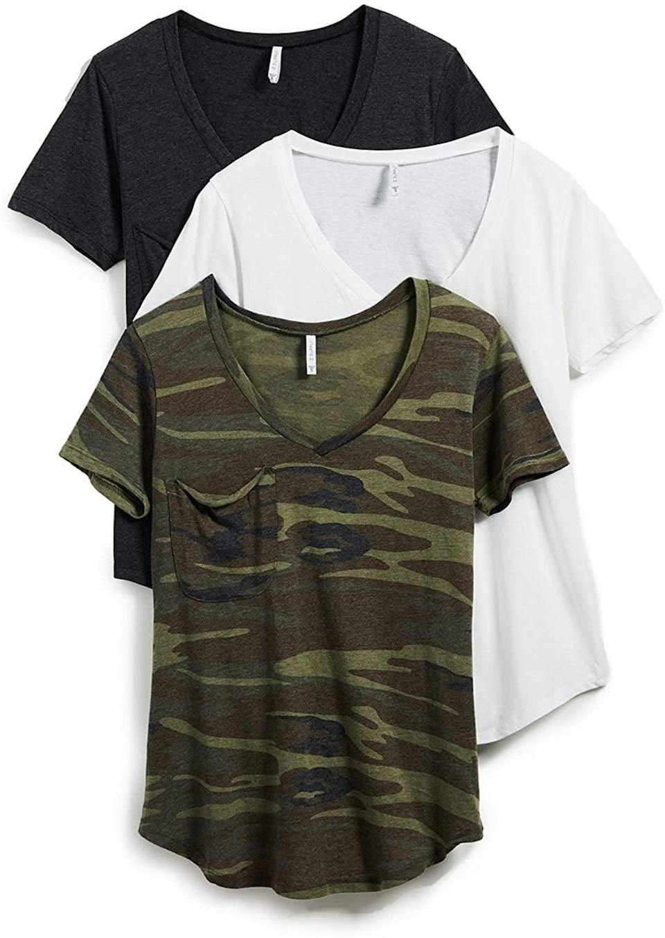 <p>A <span>Z Supply Women's Camo Tee 3 Pack</span> ($98) is three times as nice.</p>