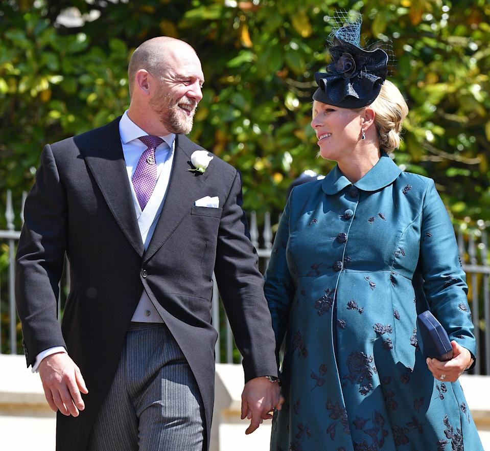 Zara and Mike Tindall arrive at Harry and Meghan's wedding, ahead of the birth of their second child Leah [Photo: Getty]