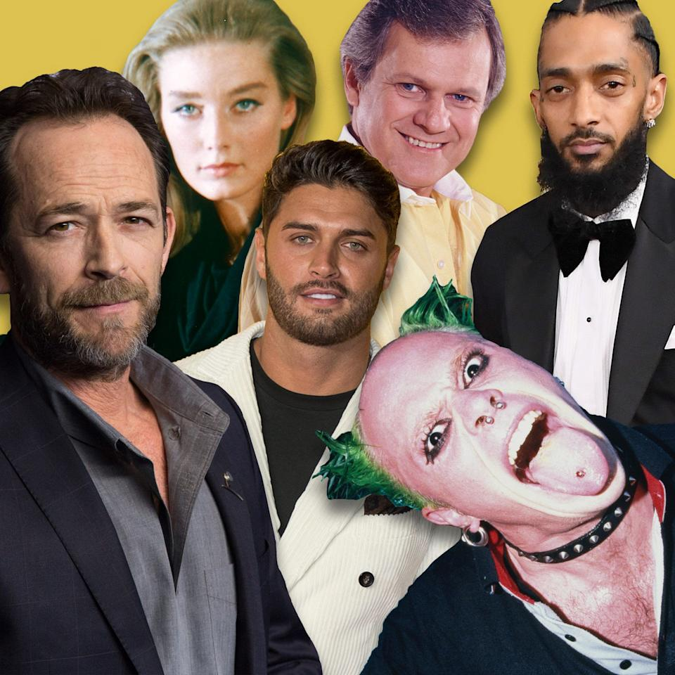 <p>2019 has already seen us say farewell to a number of famous faces from the world of entertainment. Here, we pay tribute to stars of TV, film, music and beyond, along with the words of their friends, colleagues and loved ones – gone, but never forgotten.</p>