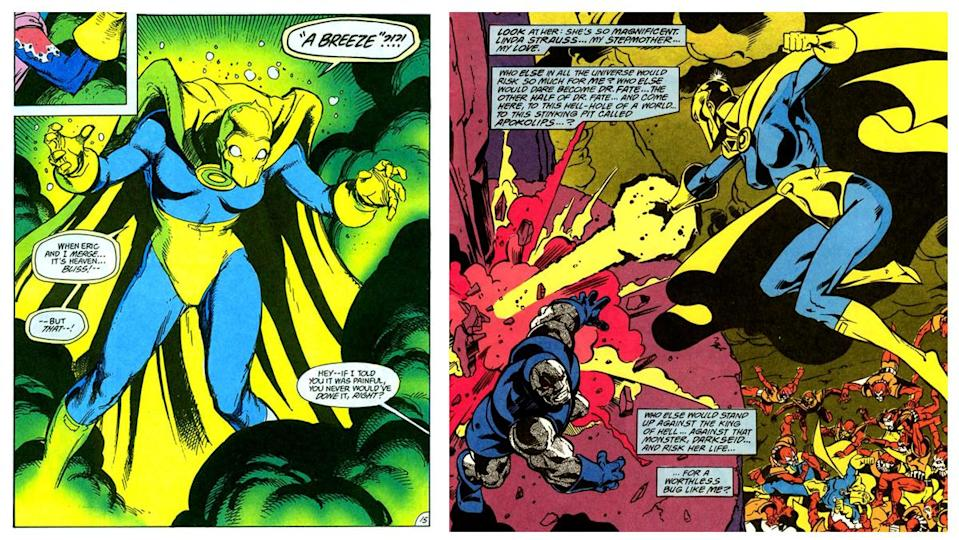 The second Doctor Fate in a young man named Eric Strauss, who merges with his stepmother to become a mystical warrior.