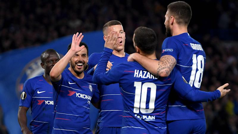 Chelsea fight off Slavia to join Arsenal in Europa League semis