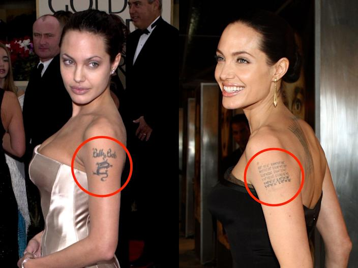 angelina jolie tattoos skitch