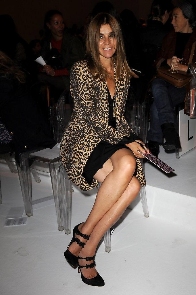 <p>Can we just get this out in the open? Carine Roitfeld is pretty much sex on a stick—and her version of leopard print reflects that. As if showing off those killer stems in a can't-fail LBD and sky-high stilettos weren't enough, she goes and tosses on a long-line leopard print jacket over the whole thing, just to kick things up a notch. This look is a <i>total </i>show stopper. </p><p><i>Photo: Getty Images</i></p>