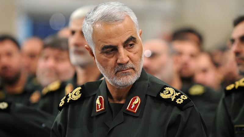 Iranian Quds Force commander Qassem Soleimani attends Iranian meeting with the Islamic Revolution Guards Corps (IRGC) in Tehran, Iran on September 18, 2016. (Photo by Pool / Press Office of Iranian Supreme Leader/Anadolu Agency/Getty Images)