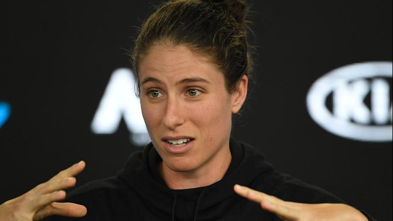 Johanna Konta says she will play on Margaret Court Arena if any of her matches are scheduled there.