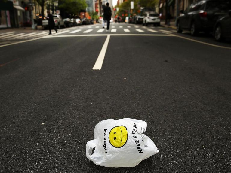 New York City shoppers to be charged for paper bags in environmental crackdown