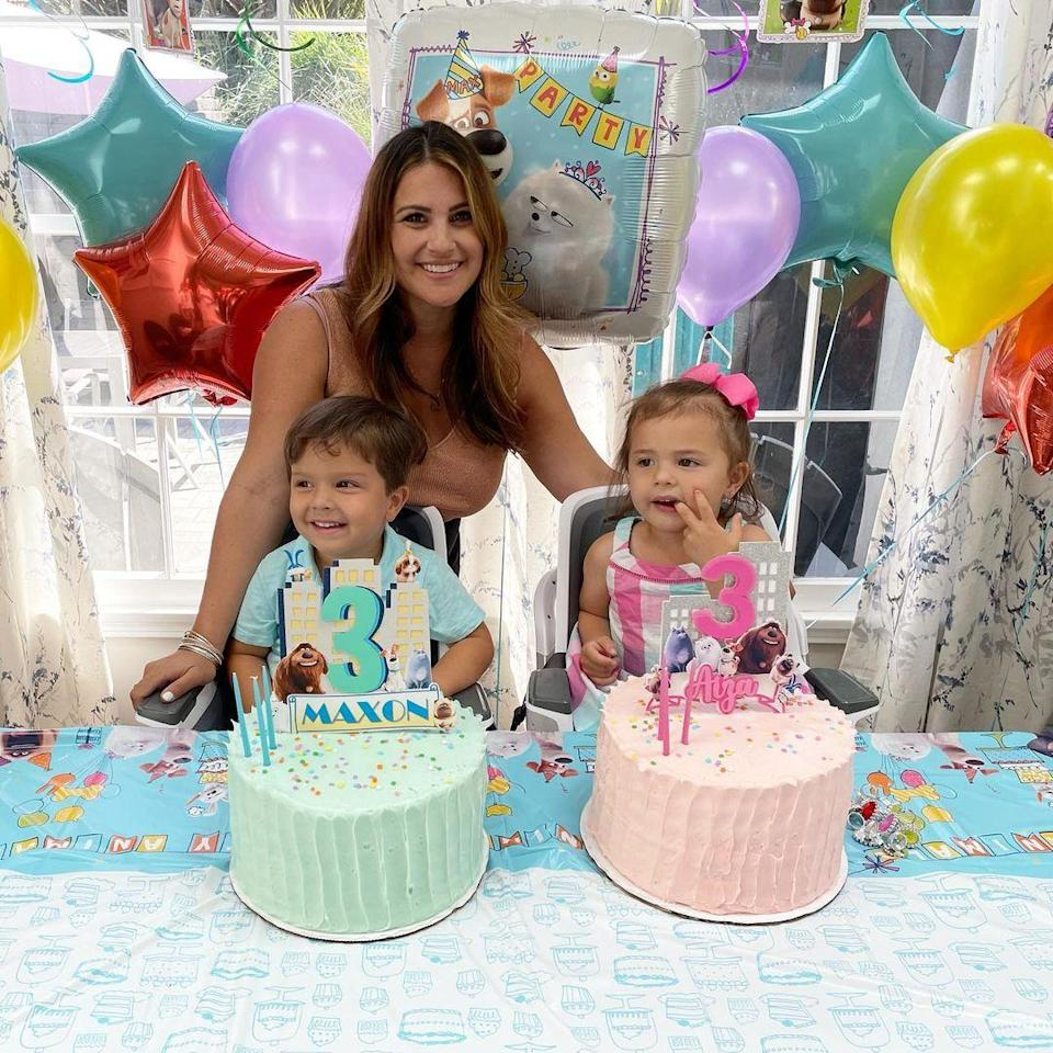 """<p>Sisanie's twins <a href=""""https://people.com/parents/sisanie-welcomes-twins/"""" rel=""""nofollow noopener"""" target=""""_blank"""" data-ylk=""""slk:Aiza Delmar and Maxon Jae"""" class=""""link rapid-noclick-resp"""">Aiza Delmar and Maxon Jae</a> turned 3 on May 2.</p>"""