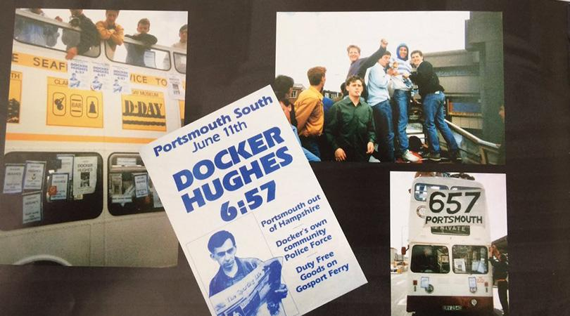 Docker Hughess notorious firm were better known for causing chaos wherever they went in the 1980s, but made headlines of a different kind when their leader ran for office with a madcap manifesto