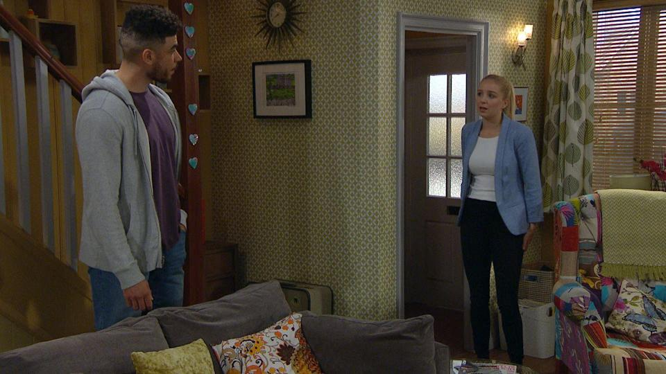 <p>Nate can't resist quizzing Belle on what was happening earlier.</p>