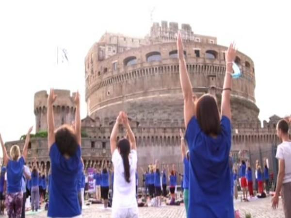 Indian Embassy organises 7th International Day of Yoga in Rome (ANI)