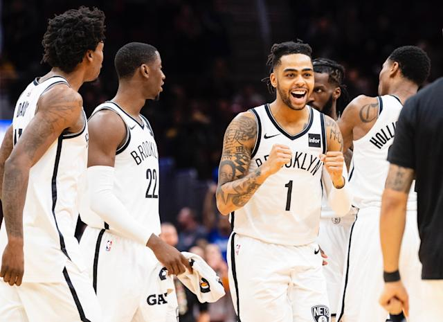 D'Angelo Russell is thrilled to not be stuck in the mire that is the Los Angeles Lakers. (Getty)