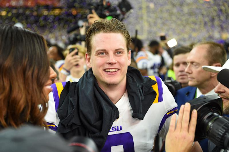 This is Joe Burrow, the possible future Cincinnati Bengals QB who doesn't like Skyline Chili. (Photo by Ken Murray/Icon Sportswire via Getty Images)