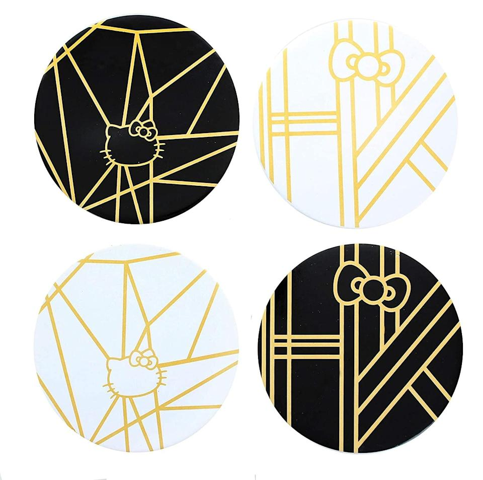 <p>If they love to entertain, they'll love these useful <span>Underground Toys Hello Kitty Panache Black &amp; Gold Drink Coasters</span> ($25). It's a sophisticated way to pay homage to the beloved Hello Kitty if they aren't a fan of pink. </p>