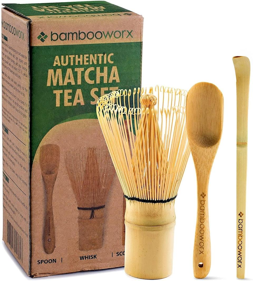 <p>If you love drinking matcha, learn to make it the authentic way with the <span>BambooWorx Japanese Tea Set</span> ($15, originally $25). It comes with a matcha whisk called a chasen, the traditional scoop called a chashaku, and a tea spoon.</p>