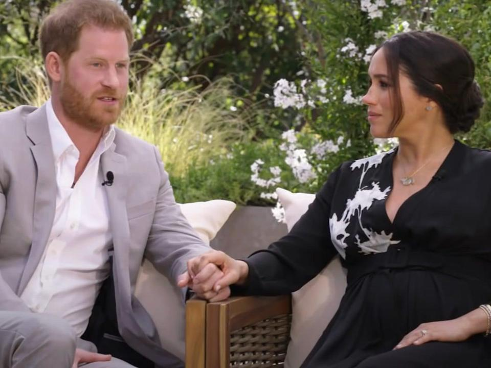 <p>The Duke and Duchess of Sussex are interviewed on US TV</p> (YouTube/CBS)