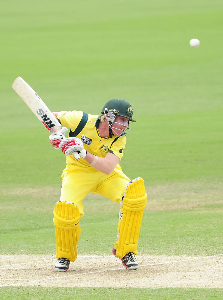 TOWNSVILLE, AUSTRALIA - AUGUST 26:  William Bosisto of Australia ducks under a bouncer during the 2012 ICC U19 Cricket World Cup Final between Australia and India at Tony Ireland Stadium on August 26, 2012 in Townsville, Australia.  (Photo by Ian Hitchcock-ICC/Getty Images)