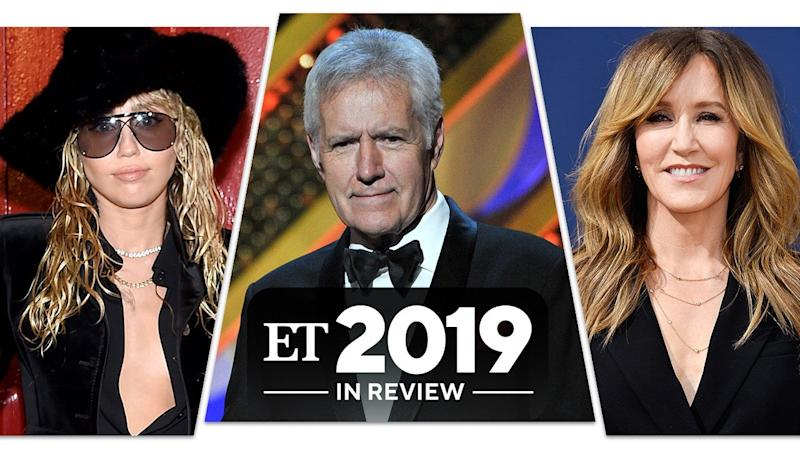 Biggest Celebrity Stories of 2019: Alex Trebek, Felicity Huffman, Miley Cyrus and More