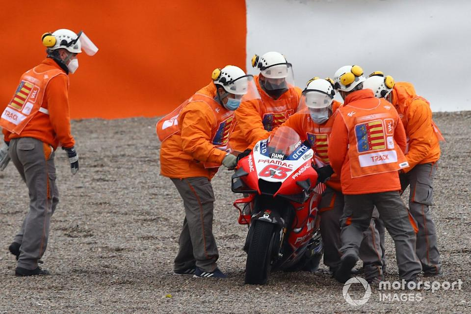 "Francesco Bagnaia, Pramac Racing after crash<span class=""copyright"">Gold and Goose / Motorsport Images</span>"