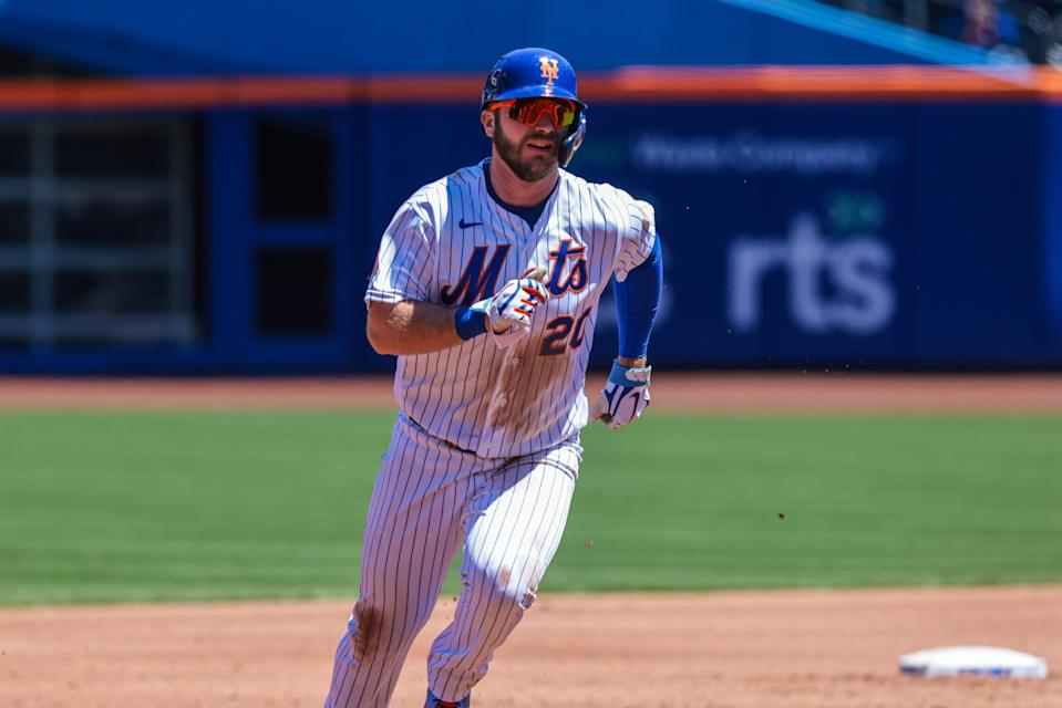 New York Mets first baseman Pete Alonso was placed on the injured list Friday.