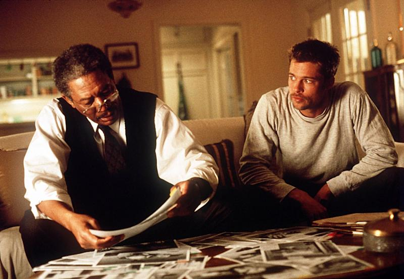 Brad Pitt (right, with Morgan Freeman) now sees the 1995 thriller