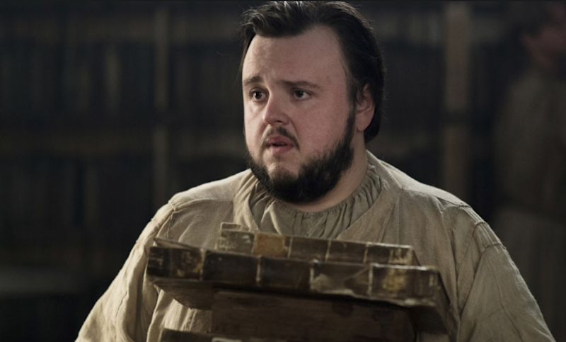 Sam has been in training to become a maester and loves to read books. Could he have written one too? Source: HBO