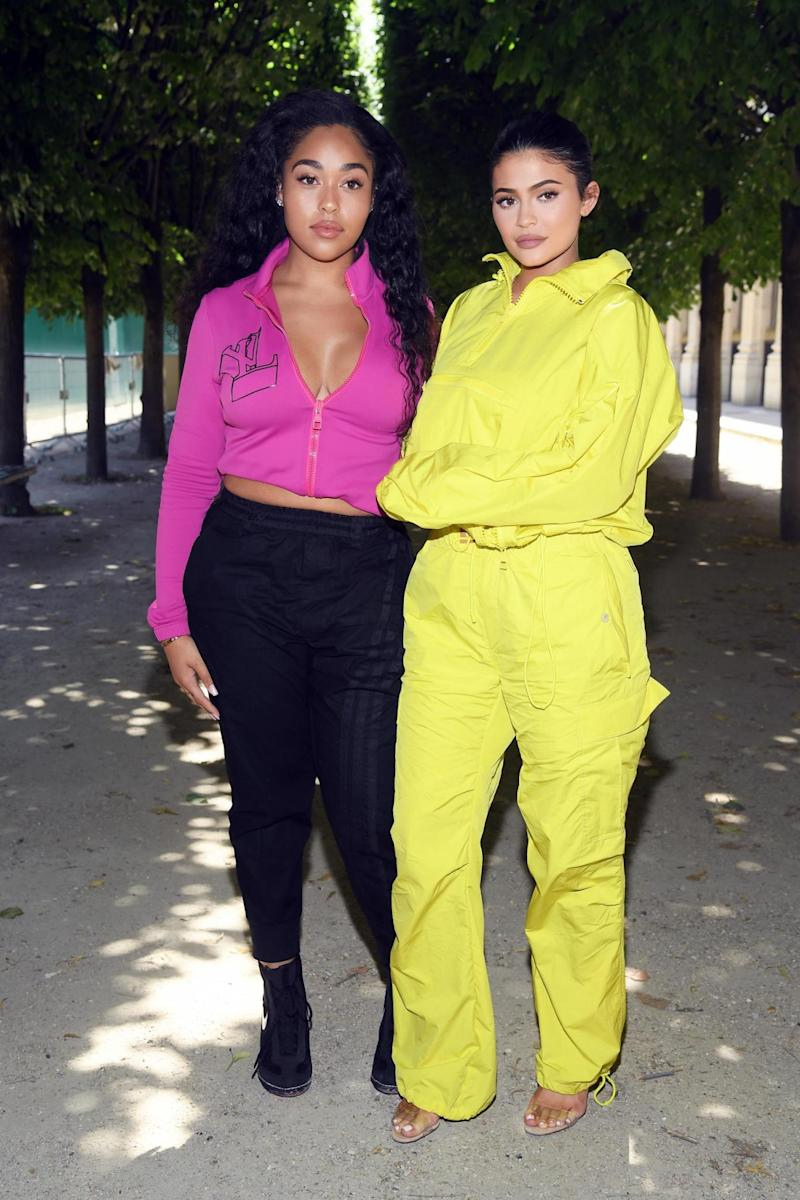 Jordyn Woods and Kylie Jenner attend the Louis Vuitton Menswear Spring/Summer 2019 (Getty Images)