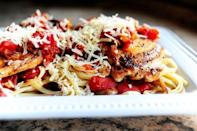 """<p>""""This is a really easy dish to throw together,"""" Ree says. """"I call it Pantry Pasta because most of the ingredients come from…the pantry!"""" We're sold.</p><p><strong><a href=""""https://thepioneerwoman.com/cooking/pantry-pasta-for-two/"""" rel=""""nofollow noopener"""" target=""""_blank"""" data-ylk=""""slk:Get the recipe"""" class=""""link rapid-noclick-resp"""">Get the recipe</a>.</strong></p>"""