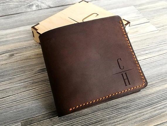 <p>Since, for a lot of men, the wallet is their only accessory, this <span>Personalized Wallet</span> ($34) is a stylish option. </p>