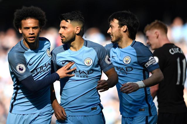 On form | Sergio Aguero scored for the fourth game on the bounce: Stu Forster/Getty Images