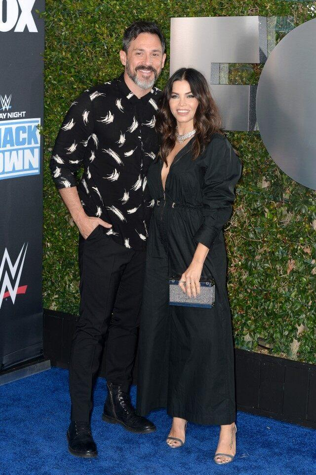 Steve Kazee and Jena Dewan attend WWE 20th Anniversary Celebration
