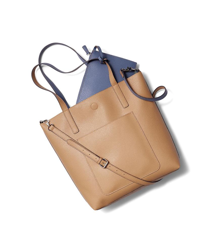 "<p>Leigh Reversible Tote, $14, <a rel=""nofollow"" href=""https://www.walmart.com/ip/Time-and-Tru-Leigh-Reversible-Tote/800174474"">walmart.com</a>. (Photo: Courtesy of Walmart) </p>"