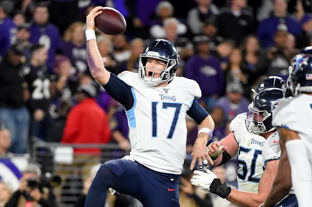 Ryan Tannehill is making more off incentives than his base salary with the Titans. (Will Newton/Getty Images)