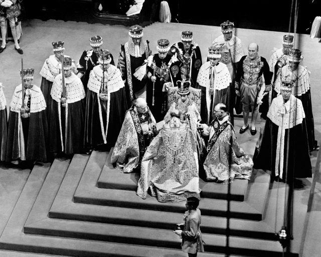 The Queen during her coronation in 1953 (PA)