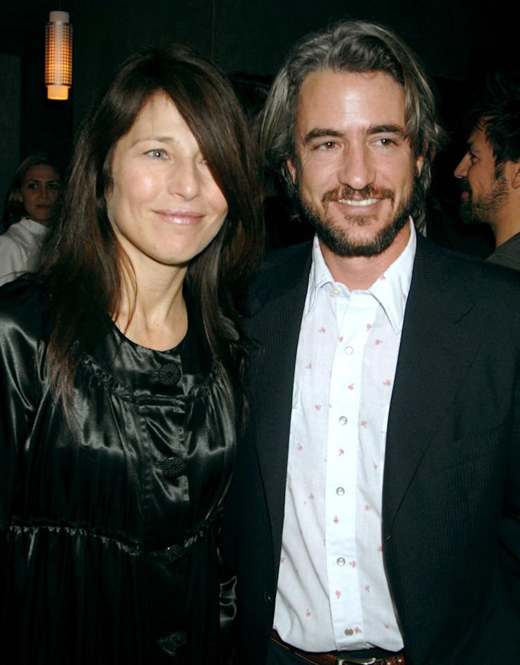 "Catherine Keener and Dermot Mulroney, producer during ""God Grew Tired of Us"" Los Angeles Premiere - After Party at Pacific Design Center in Los Angeles, California, United States. (Photo by Jeff Kravitz/FilmMagic, Inc)"