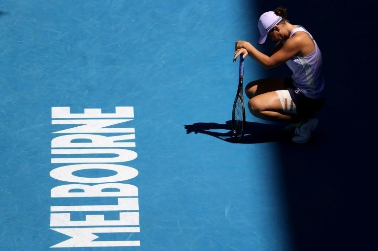 World number one Ashleigh Barty slides to a shock defeat in the quarter-finals of the Austraila Open