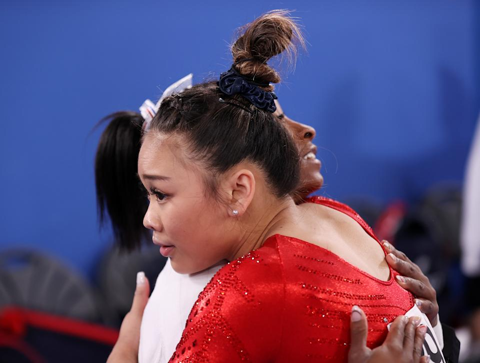 Sunisa Lee's chances to win a gold medal in the all-around, like everyone else's, opened up once Simone Biles decided to withdraw. (Photo by Laurence Griffiths/Getty Images)
