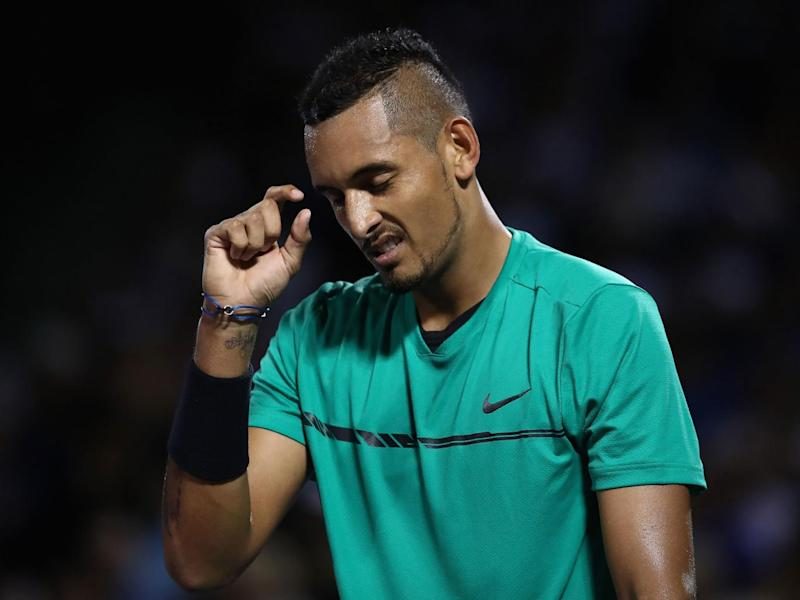 Kyrgios conceded a point at one stage by advising Federer to challenge (Getty)