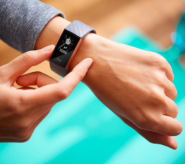 FitBit Charge 3 Activity Tracker is water-resistant. (Photo: QVC)