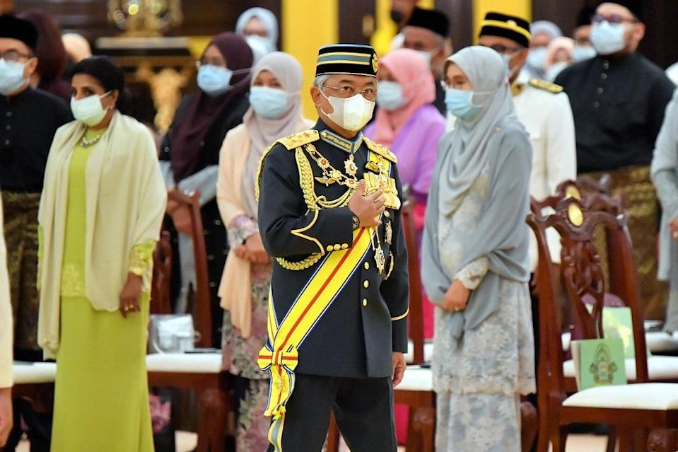 The King has granted audiences to top political party leaders at Istana Negara in Kuala Lumpur over the past week to receive feedback on the Covid-19 situation and the state of Emergency in the country. ― Bernama pic
