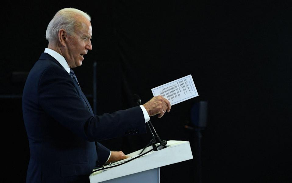 US President Joe Biden on the final day of the G7 summit, at Cornwall Airport Newquay, on June 13 2021 - Brendan Smialowski/AFP