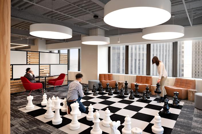 Unispace designed the space for its client Justworks, an New York City-based company.