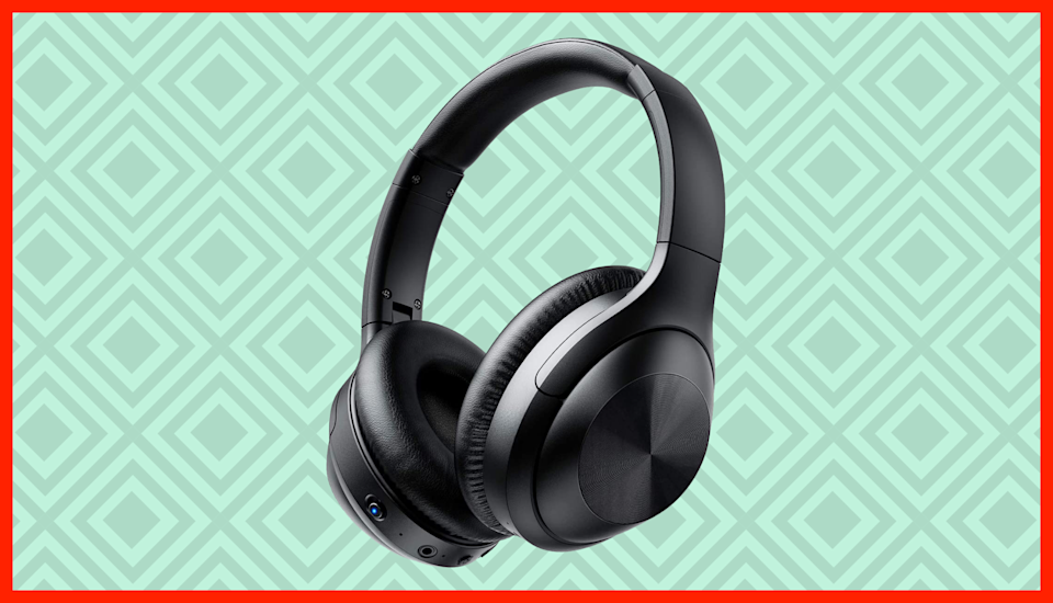 Music to your ears: These wireless headphones are on sale for just $20, with the on-page coupon. (Photo: Amazon)