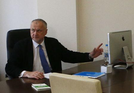 Russian Anti-Doping Agency (RUSADA) Director General Yuri Ganus attends an interview with Reuters in Moscow, Russia September 20, 2017. REUTERS/Sergei Karpukhin
