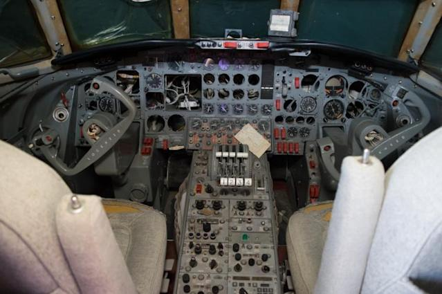 """<p>The cockpit has seen better days but could be fully restored by the right buyer. We guess you could say it's <a href=""""https://www.youtube.com/watch?v=3rQEbQJx5Bo"""" rel=""""nofollow noopener"""" target=""""_blank"""" data-ylk=""""slk:all shook up"""" class=""""link rapid-noclick-resp"""">all shook up</a>. </p>"""