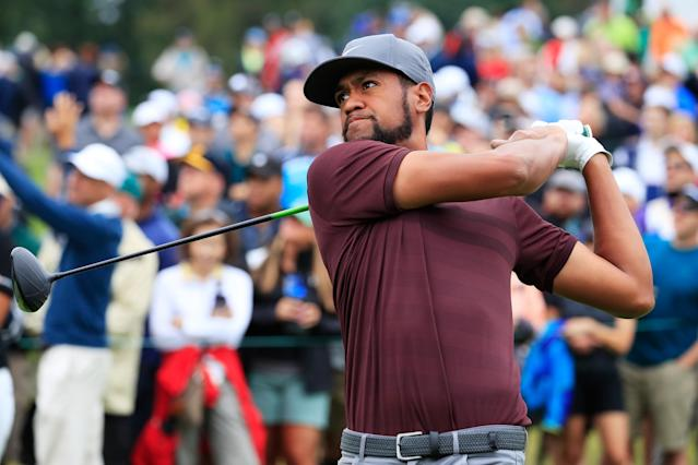 "<a class=""link rapid-noclick-resp"" href=""/pga/players/8805/"" data-ylk=""slk:Tony Finau"">Tony Finau</a> was selected to fill the final spot on the U.S. Ryder Cup team on Monday. (Getty Images)"