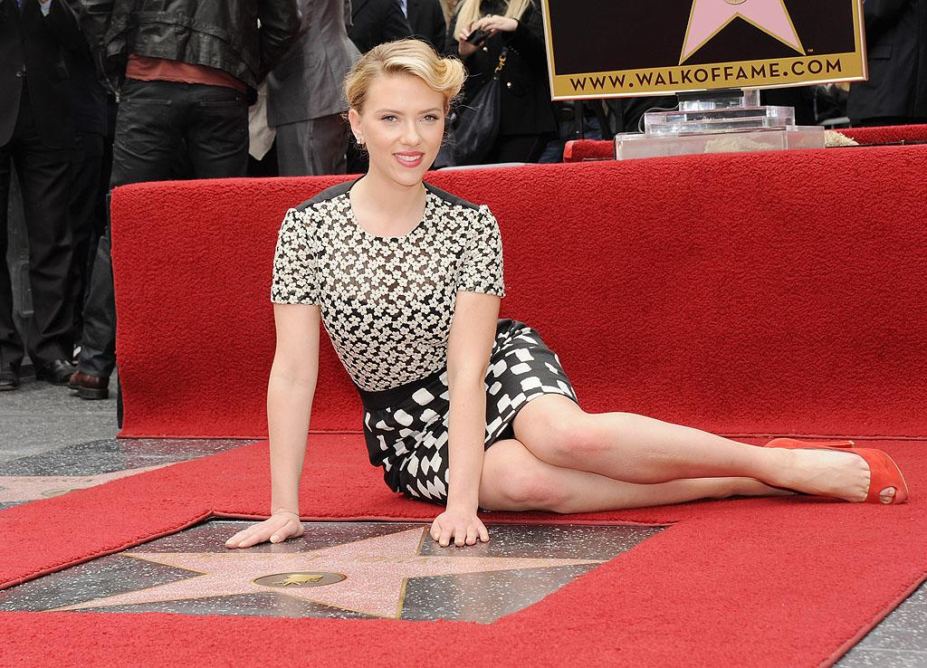 """<p class=""""MsoNormal"""">Joining the ranks of Marilyn Monroe, The Muppets, and Paula Abdul, """"Avengers"""" star Scarlett Johansson received a star on the Hollywood Walk of Fame on Wednesday. """"This industry in which I was practically raised has been so impossibly kind to me,"""" the 27-year-old said at the ceremony, which unveiled the Walk's 2,470<sup>th</sup> star. """"There's never a day where I go to set and don't thank my lucky stars to simply be a working actor."""" (5/2/2012)</p>"""